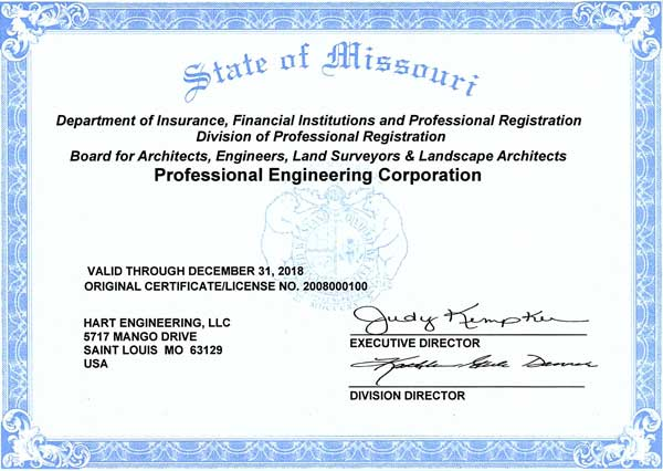 Professional Engineering License