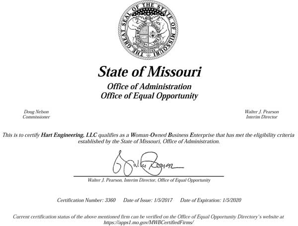 Woman-Owned Business Certificate
